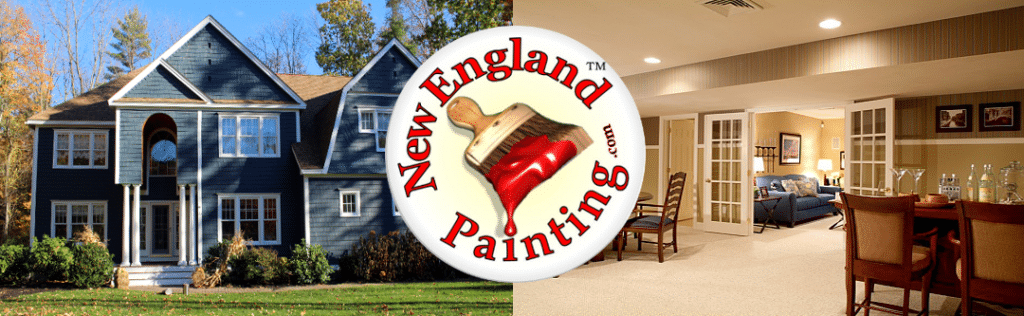 Painters New Boston NH banner with logo.