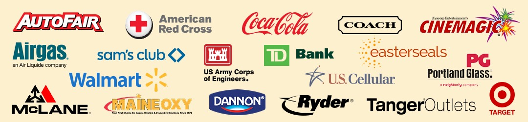 Commercial painters East Kingston NH customer logos.