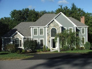 Painters Brookline NH residential exterior house painting.