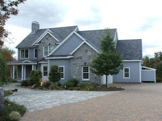 Painters New Boston NH residential exterior house painting.