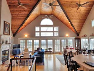 NH Lakes Region residential interior painting.