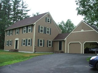 Painters Londonderry NH residential exterior painting.