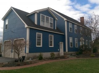 Painters Exeter NH residnetial exterior painting.