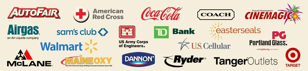 Commercial Painters Atkinson NH customer logos.